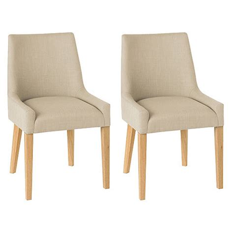upholstered light oak dining chairs debenhams pair of beige ella upholstered tub