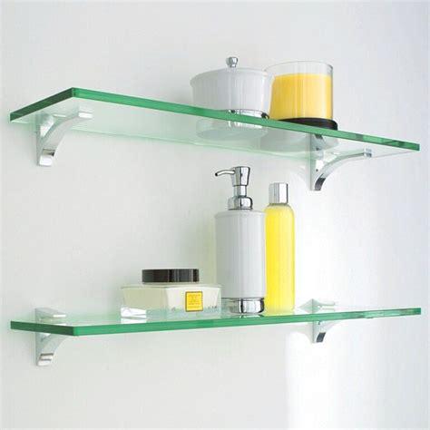 Small Glass Bathroom Shelves Glass Shelf Clip Kits Glass Shelves Shelves And Chrome