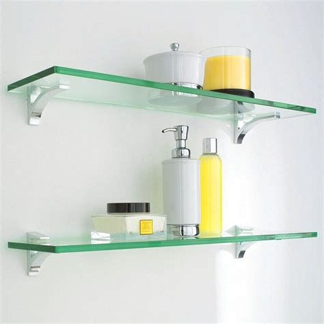 Glass Shelf Clip Kits Glass Shelves Shelves And Chrome Bathroom Glass Shelving