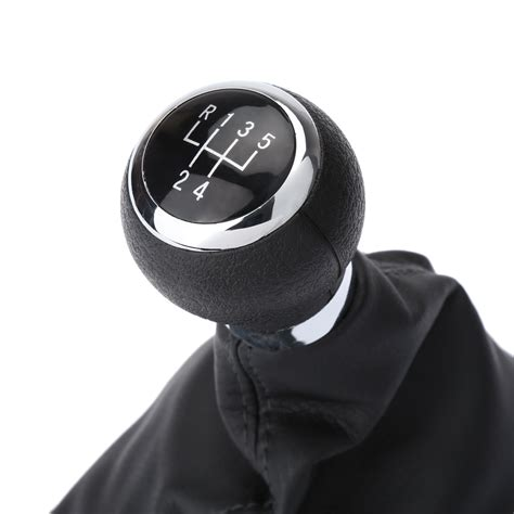 Powerstroke Shift Knob by Kkmoon Car Style Black 5 Speed Gear Shift Knob Stick Boot