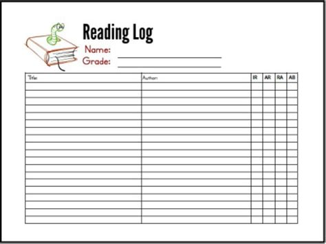 printable reading log high school free summer reading log printables reading logs and school
