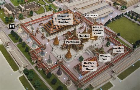 temple grand map the temple of the emerald buddha bangkok for visitors
