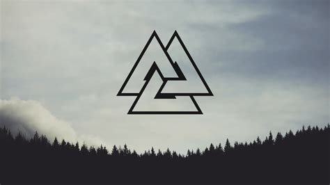 nordic valknut nordic landscapes forest pine