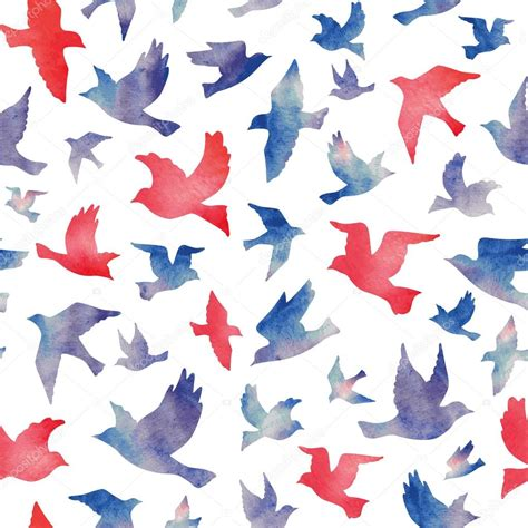 watercolor pattern for illustrator watercolor birds seamless pattern stock vector 169 mrs