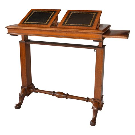Table Th late 19th century oak patent reading table richard