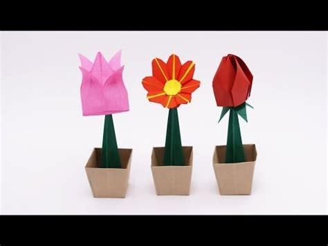 How To Make A Paper Flower Pot - origami flower pot jo nakashima