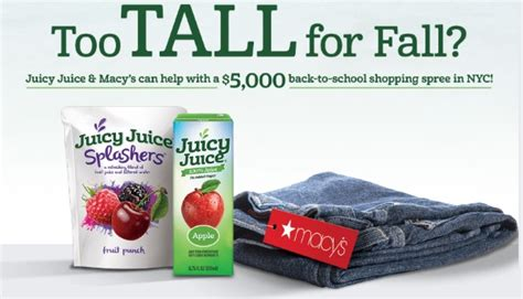Juicy Juice Sweepstakes - juicy juice and macy s are giving away a 5 000 shopping spree in the perfect fit