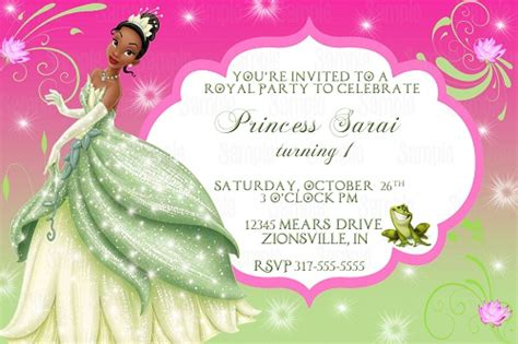 princess and the frog invitations printable the princess and the frog birthday invitation ideas bagvania free printable invitation