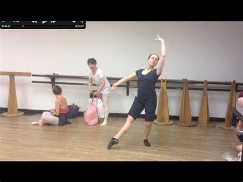 tutorial dance class tomb 233 pas de bourr 233 e to 1st arabesque ballet class