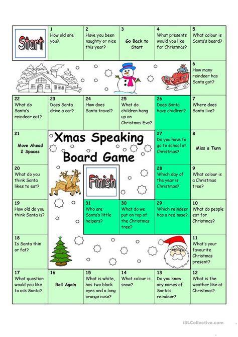 printable halloween board game esl board game christmas santa worksheet free esl