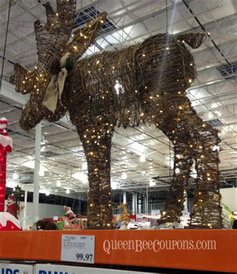 moose 60 inch lighted outdoor display costco trees decorations lights 2013