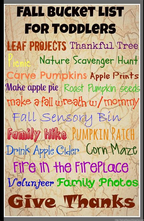 fall bucket list  toddlers tales  beauty  ashes