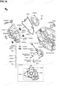 Suzuki Atv Parts Diagram Suzuki Atv Parts 2004 Lt V700f Ca Engine Cover Diagram