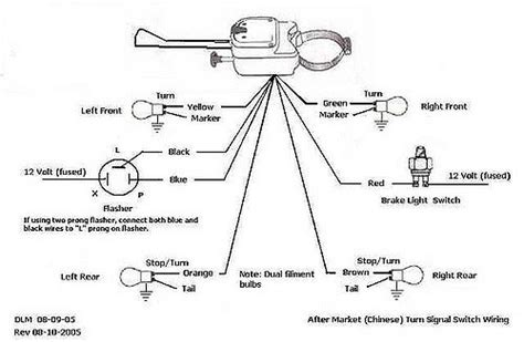peterson turn signal switch wiring diagram wiring