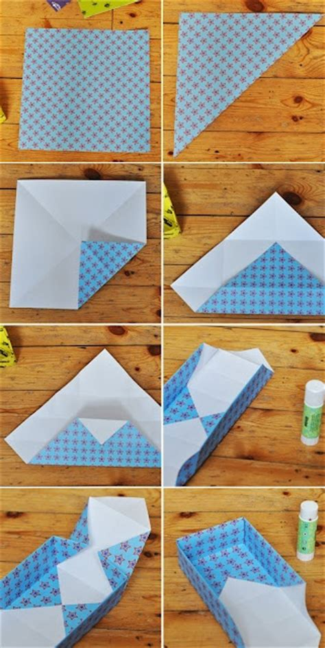 Paper Folded Box - paper box folding scrappin
