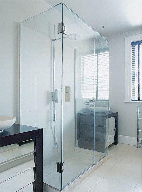 sided glass shower enclosure bathroom inspiration