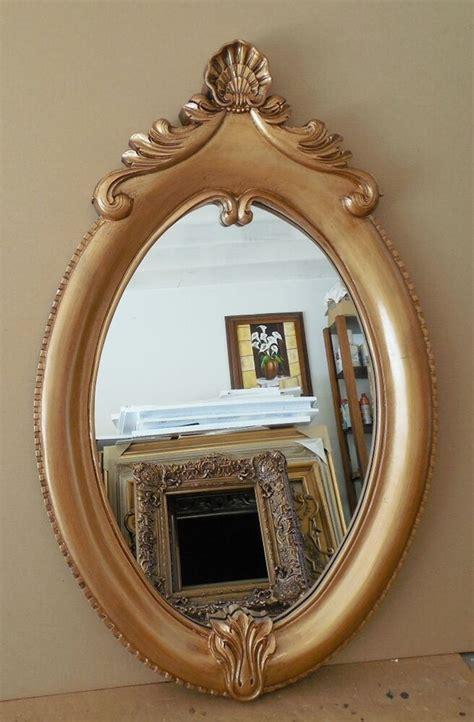 large hard resin  oval framed wall mirror ebay