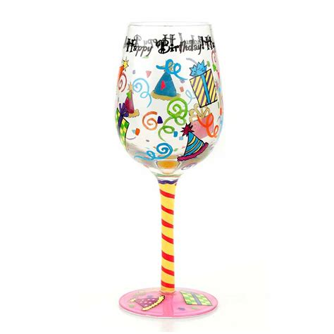 On The Shelf Glasses by Happy Birthday Top Shelf Glasses