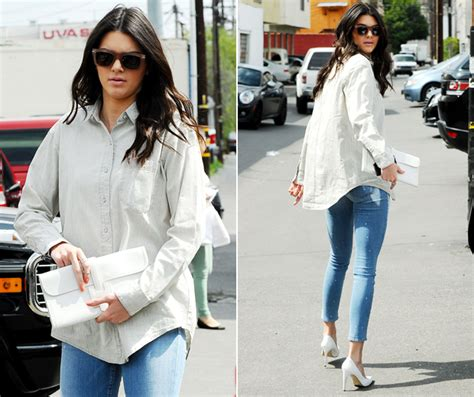 Joan Dress Kemeja kendall jenner shows how to wear your boyfriend s shirt look