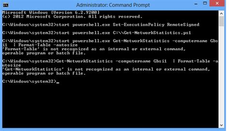 Powershell Format Table Width by Execute Powershell Command From Batch File