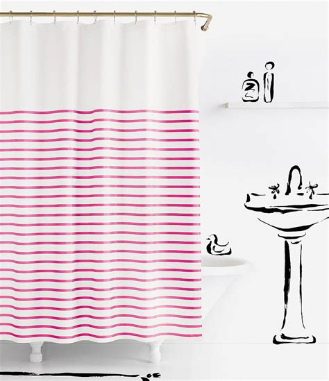 shocking pink curtains kate spade new york harbour stripe shower curtain dillards