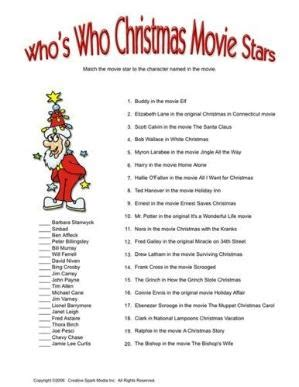 printable christmas games for office who s who wedding genealogy chart