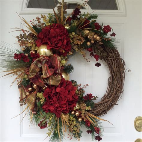 christmas wreath winter wreath holiday by reginasgarden on