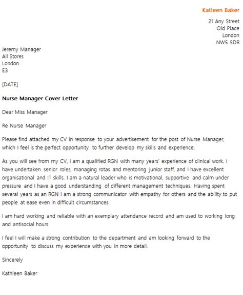 cover letter for nursing uk manager cover letter exle icover org uk