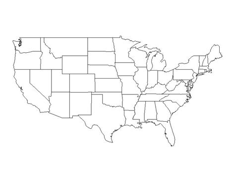 us map outline states blank blank u s map pdf