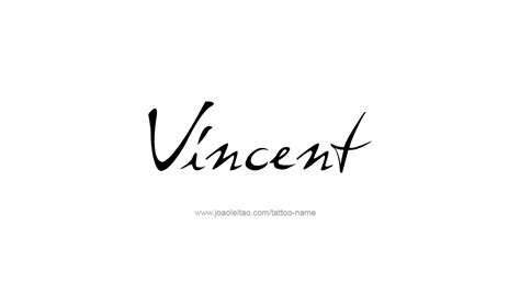 p tattoo designs vincent name designs