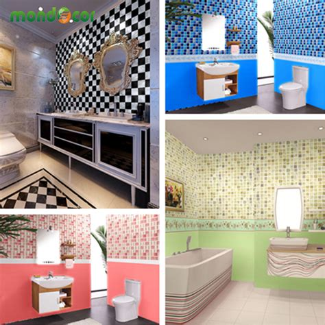 Promo Wallpaper Sticker 45cm X 10 Meter 1 new waterproof bathroom mosaic tiles vinyl pvc self adhesive wallpaper for kitchen countertop