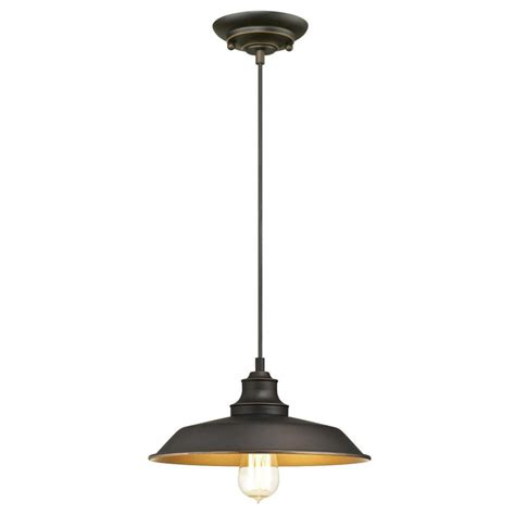 Westinghouse Iron Hill 1 Light Oil Rubbed Bronze Pendant Westinghouse Pendant Light