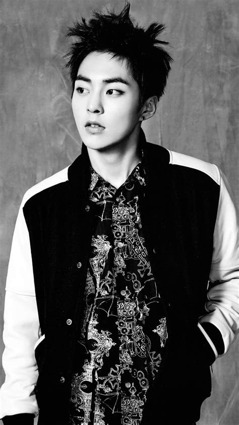 xiumin wallpaper tumblr exo xiumin black white wallpaper please kpop wallpapers