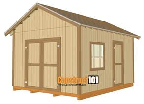 Free Indoor Storage Bench Plans by 12x16 Shed Plans Gable Design Construct101