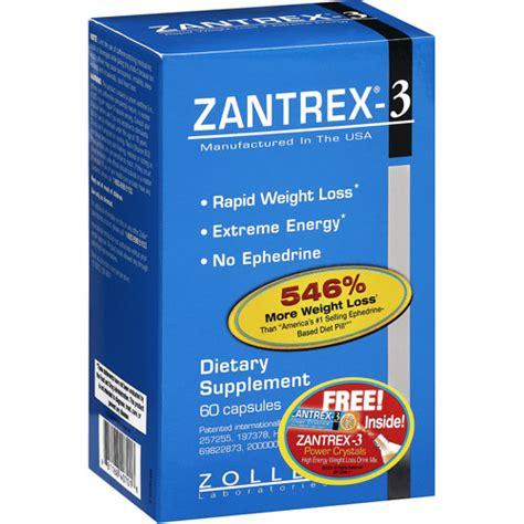zantrex weight loss zantrex 3 dietary rapid weight loss supplement 60ct
