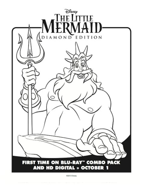 little mermaid king triton coloring pages little mermaid king triton coloring page mama likes this