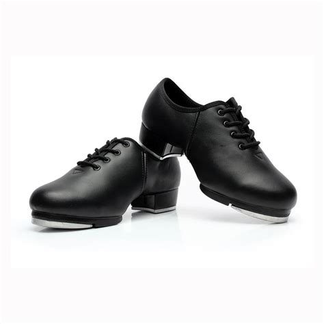 black genuine leather boy s tap shoes
