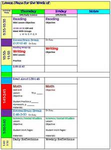 one page lesson plan template simplify your with an all in one organizer