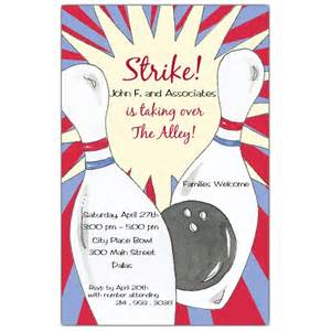 bowling corporate event invitations paperstyle