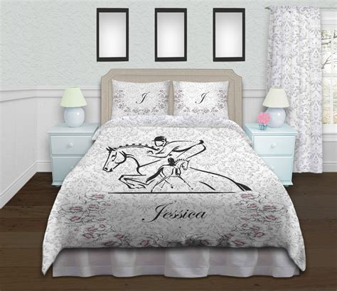 Queen Duvet Size Horse Eventing Duvet Cover Equestrian Themed Girls