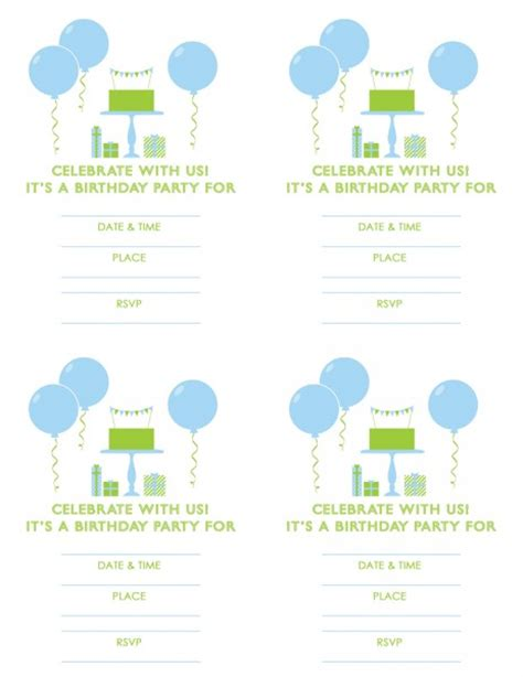 printable invitations birthday boy 7 best images of boy birthday printables free printable