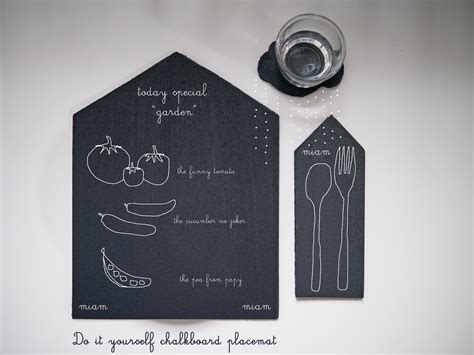 diy chalkboard placemats diy chalkboard bistro house s place mats coaster