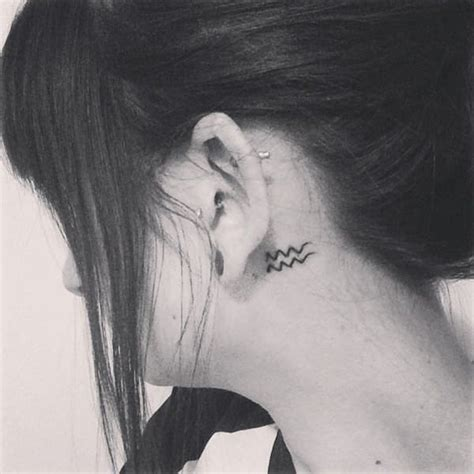 aquarius tattoo behind ear 45 of the best aquarius tattoos for your body