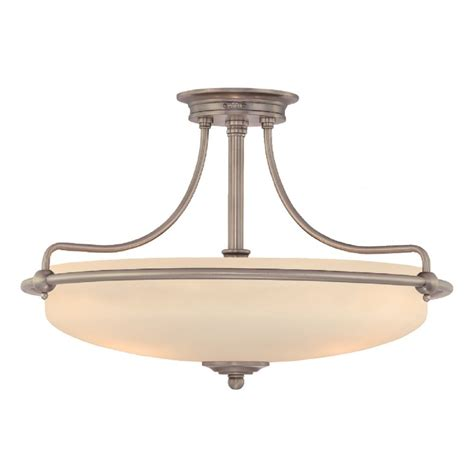 deco low ceiling light fitting with opal glass