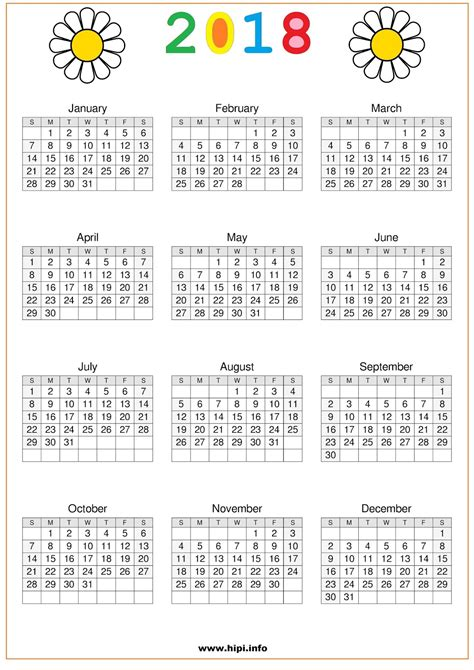 printable calendar pages 2018 printable one page 2018 calendar carbon materialwitness co