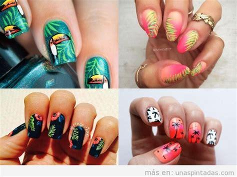 imagenes de uñas decoradas tropicales u 241 as tropicales todo el calor y el verano en tus u 241 as