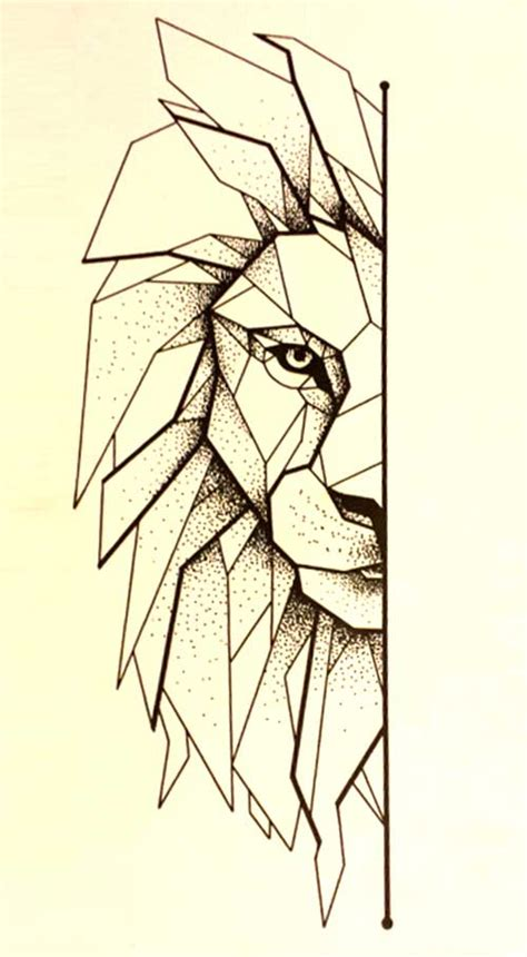 geometric lion google search pinteres