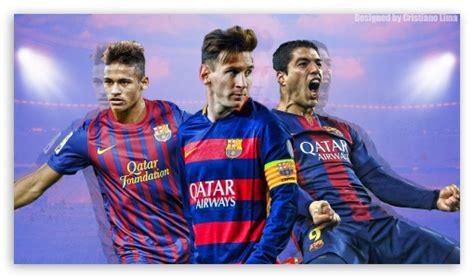 wallpaper trio barcelona barcelona trio messi suarez and neymar 4k hd desktop