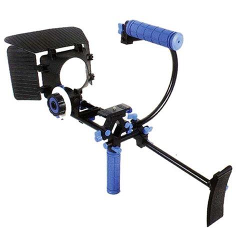 Dslr Rig Set Kit Handheld Shoulder Mount Follow Focus Matte Box dslr shoulder mount rig 1 follow focus matte box top handle c cage for dslr canon