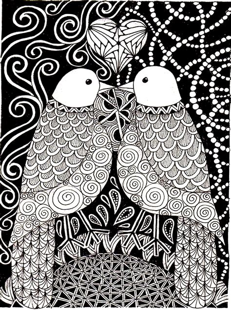 love birds birds adult coloring pages
